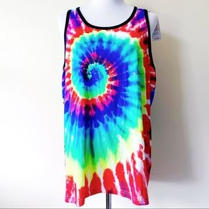 🆕 Express Pride LGBTQ Rainbow Tie Dye Tank Top